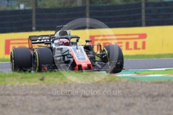 World © Octane Photographic Ltd. Formula 1 – Japanese GP - Practice 1. Haas F1 Team VF-18 – Romain Grosjean. Suzuka Circuit, Japan. Friday 5th October 2018.