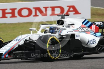 World © Octane Photographic Ltd. Formula 1 – Japanese GP - Practice 1. Williams Martini Racing FW41 – Lance Stroll. Suzuka Circuit, Japan. Friday 5th October 2018.