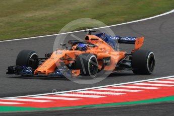 World © Octane Photographic Ltd. Formula 1 – Japanese GP - Practice 1. McLaren MCL33 – Fernando Alonso. Suzuka Circuit, Japan. Friday 5th October 2018.
