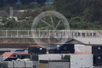 World © Octane Photographic Ltd. Formula 1 – Japanese GP - Practice 1. Mercedes shipping crates. Suzuka Circuit, Japan. Friday 5th October 2018.