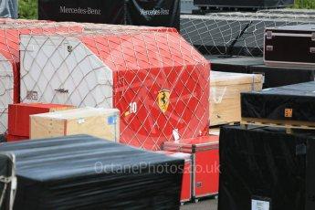 World © Octane Photographic Ltd. Formula 1 – Japanese GP - Practice 2. Ferrari shipping crates. Suzuka Circuit, Japan. Friday 5th October 2018.