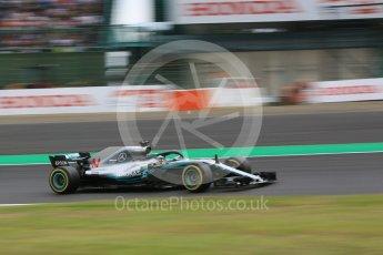 World © Octane Photographic Ltd. Formula 1 – Japanese GP – Practice 2. Mercedes AMG Petronas Motorsport AMG F1 W09 EQ Power+ - Lewis Hamilton. Suzuka Circuit, Japan. Friday 5th October 2018.