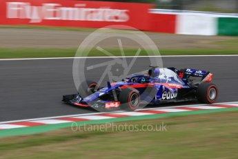 World © Octane Photographic Ltd. Formula 1 – Japanese GP - Practice 3. Scuderia Toro Rosso STR13 – Brendon Hartley. Suzuka Circuit, Japan. Saturday 6th October 2018.