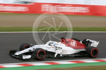 World © Octane Photographic Ltd. Formula 1 – Japanese GP - Practice 3. Alfa Romeo Sauber F1 Team C37 – Marcus Ericsson. Suzuka Circuit, Japan. Saturday 6th October 2018.