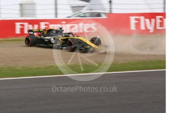 World © Octane Photographic Ltd. Formula 1 – Japanese GP - Practice 3. Renault Sport F1 Team RS18 – Nico Hulkenberg spins off at exit of turn 4. Suzuka Circuit, Japan. Saturday 6th October 2018.