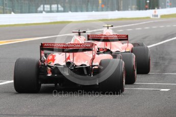 World © Octane Photographic Ltd. Formula 1 – Japanese GP - Practice 3. Scuderia Ferrari SF71-H – Kimi Raikkonen and Sebastian Vettel. Suzuka Circuit, Japan. Saturday 6th October 2018.