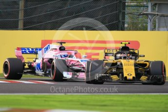 World © Octane Photographic Ltd. Formula 1 – Japanese GP - Qualifying. Renault Sport F1 Team RS18 – Carlos Sainz and Racing Point Force India VJM11 - Sergio Perez. Suzuka Circuit, Japan. Saturday 6th October 2018.