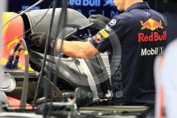 World © Octane Photographic Ltd. Formula 1 – Japanese GP - Pit Lane. Aston Martin Red Bull Racing TAG Heuer RB14 – Daniel Ricciardo race day setup. Suzuka Circuit, Japan. Sunday 7th October 2018.