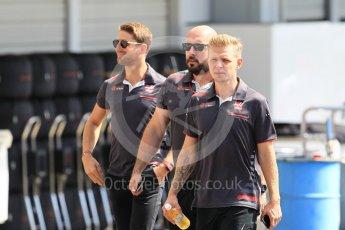 World © Octane Photographic Ltd. Formula 1 – Japanese GP - Paddock. Haas F1 Team VF-18 – Kevin Magnussen and Romain Grosjean. Suzuka Circuit, Japan. Sunday 7th October 2018.