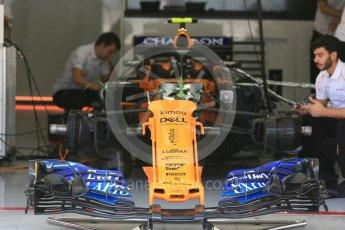 World © Octane Photographic Ltd. Formula 1 – Japanese GP - Pit Lane. McLaren MCL33 – Stoffel Vandoorne race day setup. Suzuka Circuit, Japan. Sunday 7th October 2018.