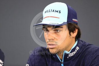 World © Octane Photographic Ltd. Formula 1 – Japanese GP - FIA Drivers' Press Conference. Williams Martini Racing – Lance Stroll. Suzuka Circuit, Japan. Thursday 4th October 2018.