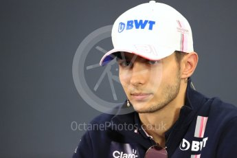 World © Octane Photographic Ltd. Formula 1 – Japanese GP - FIA Drivers' Press Conference. Racing Point Force India - Esteban Ocon. Suzuka Circuit, Japan. Thursday 4th October 2018.