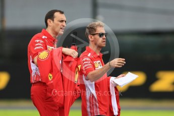 World © Octane Photographic Ltd. Formula 1 – Japanese GP - Track Walk. Scuderia Ferrari SF71-H – Sebastian Vettel. Suzuka Circuit, Japan. Thursday 4th October 2018.