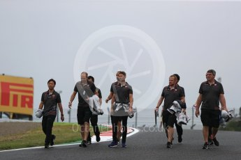 World © Octane Photographic Ltd. Formula 1 – Japanese GP - Track Walk. Haas F1 Team VF-18 – Romain Grosjean. Suzuka Circuit, Japan. Thursday 4th October 2018.
