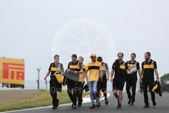World © Octane Photographic Ltd. Formula 1 – Japanese GP - Track Walk. Renault Sport F1 Team RS18 – Carlos Sainz. Suzuka Circuit, Japan. Thursday 4th October 2018.