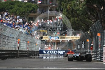 World © Octane Photographic Ltd. Formula 1 – Monaco GP - Practice 3. Mercedes AMG Petronas Motorsport AMG F1 W09 EQ Power+ - Lewis Hamilton and Scuderia Ferrari SF71-H – Kimi Raikkonen. Monte-Carlo. Saturday 26th May 2018.