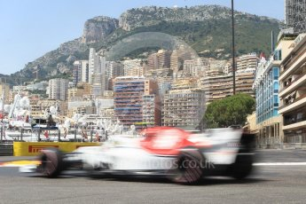 World © Octane Photographic Ltd. Formula 1 – Monaco GP - Practice 3. Alfa Romeo Sauber F1 Team C37 – Charles Leclerc. Monte-Carlo. Saturday 26th May 2018.