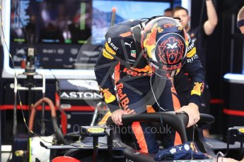 World © Octane Photographic Ltd. Formula 1 – Monaco GP - Practice 3. Aston Martin Red Bull Racing TAG Heuer RB14 – Max Verstappen. Monte-Carlo. Saturday 26th May 2018.