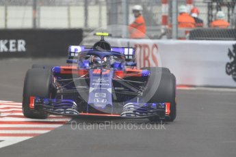World © Octane Photographic Ltd. Formula 1 – Monaco GP - Practice 1. Scuderia Toro Rosso STR13 – Pierre Gasly. Monte-Carlo. Thursday 24th May 2018.