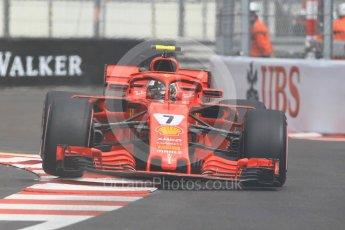 World © Octane Photographic Ltd. Formula 1 – Monaco GP - Practice 1. Scuderia Ferrari SF71-H – Kimi Raikkonen. Monte-Carlo. Thursday 24th May 2018.