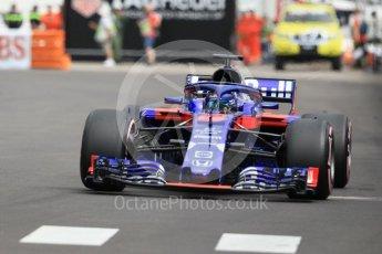 World © Octane Photographic Ltd. Formula 1 – Monaco GP - Practice 1. Scuderia Toro Rosso STR13 – Brendon Hartley. Monte-Carlo. Thursday 24th May 2018.