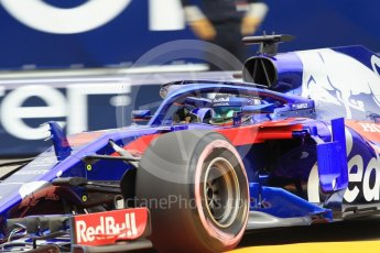 World © Octane Photographic Ltd. Formula 1 – Monaco GP - Practice 1. Scuderia Toro Rosso STR13 – Brendon Hartley. Monte-Carlo. Thursday 24th May 2018.