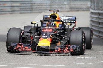 World © Octane Photographic Ltd. Formula 1 – Monaco GP - Practice 1. Aston Martin Red Bull Racing TAG Heuer RB14 – Daniel Ricciardo. Monte-Carlo. Thursday 24th May 2018.