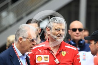 World © Octane Photographic Ltd. Formula 1 - Monaco GP - Practice 1. Maurizio Arrivabene – Managing Director and Team Principal of Scuderia Ferrari. Monte-Carlo. Thursday 24th May 2018.