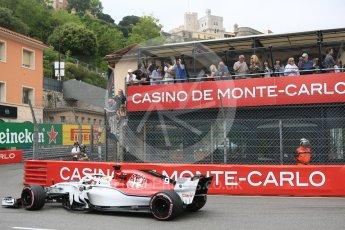 World © Octane Photographic Ltd. Formula 1 – Monaco GP - Practice 1. Alfa Romeo Sauber F1 Team C37 – Marcus Ericsson. Monte-Carlo. Thursday 24th May 2018.