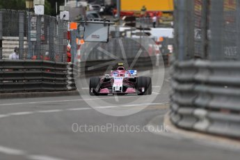 World © Octane Photographic Ltd. Formula 1 – Monaco GP - Practice 1. Sahara Force India VJM11 - Esteban Ocon. Monte-Carlo. Thursday 24th May 2018.