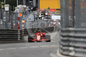 World © Octane Photographic Ltd. Formula 1 – Monaco GP - Practice 1. Scuderia Ferrari SF71-H – Kimi Raikkonen. Monte-Carlo. Thursday 24th May 2018.