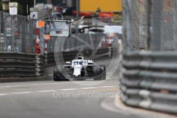 World © Octane Photographic Ltd. Formula 1 – Monaco GP - Practice 1. Williams Martini Racing FW41 – Lance Stroll. Monte-Carlo. Thursday 24th May 2018.