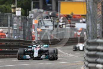 World © Octane Photographic Ltd. Formula 1 – Monaco GP - Practice 1. Mercedes AMG Petronas Motorsport AMG F1 W09 EQ Power+ - Lewis Hamilton and Romeo Sauber F1 Team C37 – Marcus Ericsson. Monte-Carlo. Thursday 24th May 2018.