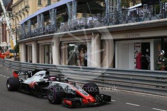 World © Octane Photographic Ltd. Formula 1 – Monaco GP - Practice 1. Haas F1 Team VF-18 – Romain Grosjean. Monte-Carlo. Thursday 24th May 2018.