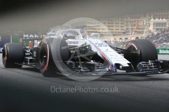 World © Octane Photographic Ltd. Formula 1 – Monaco GP - Practice 2. Williams Martini Racing FW41 – Sergey Sirotkin. Monte-Carlo. Thursday 24th May 2018.