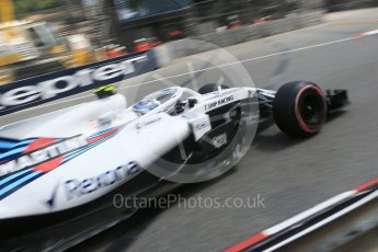 World © Octane Photographic Ltd. Formula 1 – Monaco GP - Practice 2. Williams Martini Racing FW41 – Sergey Sirotkin. Monte-Carlo. Thursday 24th May 2018.