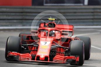 World © Octane Photographic Ltd. Formula 1 – Monaco GP - Practice 2. Scuderia Ferrari SF71-H – Kimi Raikkonen. Monte-Carlo. Thursday 24th May 2018.