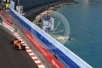 World © Octane Photographic Ltd. Formula 1 – Monaco GP - Practice 2. McLaren MCL33 – Stoffel Vandoorne. Monte-Carlo. Thursday 24th May 2018.
