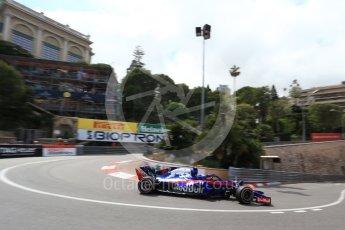 World © Octane Photographic Ltd. Formula 1 – Monaco GP - Practice 2. Scuderia Toro Rosso STR13 – Pierre Gasly. Monte-Carlo. Thursday 24th May 2018.