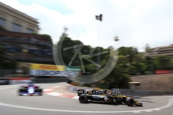World © Octane Photographic Ltd. Formula 1 – Monaco GP - Practice 2. Renault Sport F1 Team RS18 – Carlos Sainz and Scuderia Toro Rosso STR13 – Pierre Gasly. Monte-Carlo. Thursday 24th May 2018.