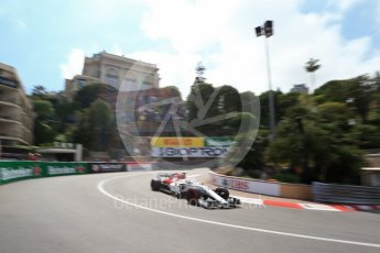 World © Octane Photographic Ltd. Formula 1 – Monaco GP - Practice 2. Alfa Romeo Sauber F1 Team C37 – Marcus Ericsson. Monte-Carlo. Thursday 24th May 2018.