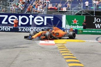World © Octane Photographic Ltd. Formula 1 – Monaco GP - Qualifying. McLaren MCL33 – Fernando Alonso. Monte-Carlo. Saturday 26th May 2018.