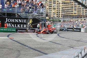 World © Octane Photographic Ltd. Formula 1 – Monaco GP - Qualifying. Scuderia Ferrari SF71-H – Sebastian Vettel. Monte-Carlo. Saturday 26th May 2018.