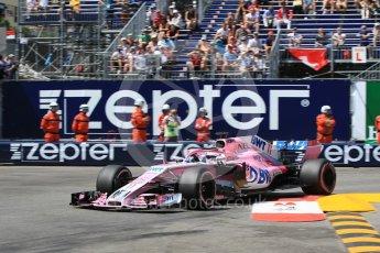 World © Octane Photographic Ltd. Formula 1 – Monaco GP - Qualifying. Sahara Force India VJM11 - Sergio Perez. Monte-Carlo. Saturday 26th May 2018.