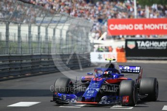 World © Octane Photographic Ltd. Formula 1 – Monaco GP - Qualifying. Scuderia Toro Rosso STR13 – Pierre Gasly. Monte-Carlo. Saturday 26th May 2018.