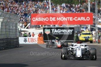 World © Octane Photographic Ltd. Formula 1 – Monaco GP - Qualifying. Alfa Romeo Sauber F1 Team C37 – Marcus Ericsson and Haas F1 Team VF-18 – Kevin Magnussen. Monte-Carlo. Saturday 26th May 2018.