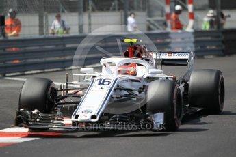 World © Octane Photographic Ltd. Formula 1 – Monaco GP - Qualifying. Alfa Romeo Sauber F1 Team C37 – Charles Leclerc. Monte-Carlo. Saturday 26th May 2018.