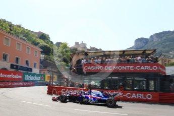 World © Octane Photographic Ltd. Formula 1 – Monaco GP - Qualifying. Scuderia Toro Rosso STR13 – Pierre Gasly. Monte-Carlo. Saturday 26th May 2018.
