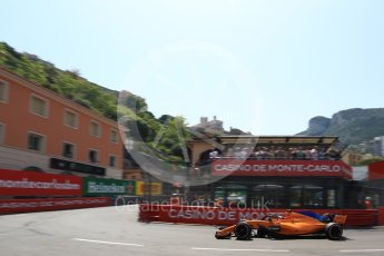 World © Octane Photographic Ltd. Formula 1 – Monaco GP - Qualifying. McLaren MCL33 – Stoffel Vandoorne. Monte-Carlo. Saturday 26th May 2018.