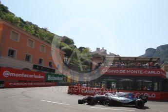 World © Octane Photographic Ltd. Formula 1 – Monaco GP - Qualifying. Williams Martini Racing FW41 – Lance Stroll. Monte-Carlo. Saturday 26th May 2018.